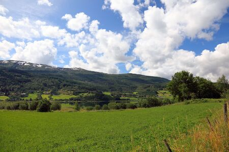 Norwegian landscape in summer, Scandinavia, Europe. photo