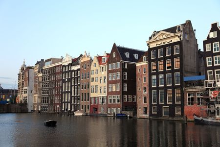 Old historic houses in Amsterdam, Netherlands, Europe. Stock Photo - 6902291