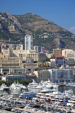 Cityscape view of Monaco principality, Europe. photo