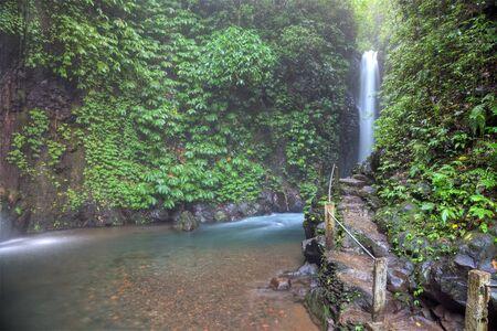 Git-Git tropical waterfall, Bali, Indonesia photo