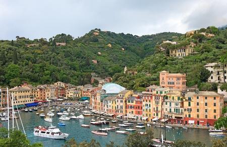 Monde c�l�bre Portofino village, Italie. Banque d'images