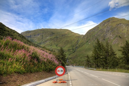 Road in swiss alps, Europe. Stock Photo - 11826471