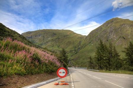 Road in swiss alps, Europe. Stock Photo - 11826471