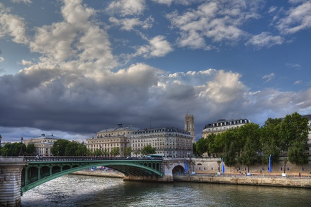 Picturesque Seine during sunset time, Paris. Stock Photo - 11826289