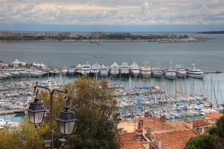 Cannes during springtime before festival, tungsten day. photo