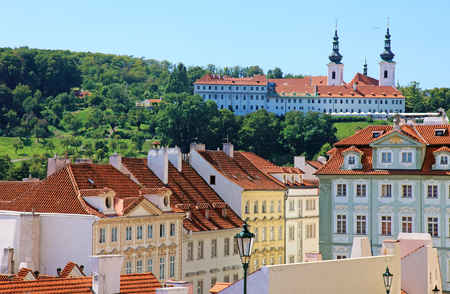 Cityscape of historical Prague center, eastern Europe. Stock Photo