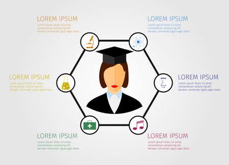 education concept: Education concept student vector