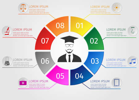 education concept: Education infographics. Concept students learning.