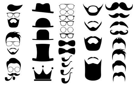 dapper: Hipster hair and beards infographics elements