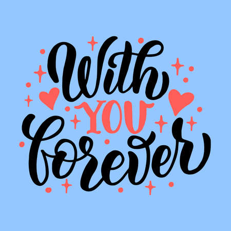 Hand drawn lettering composition for valentines day. for the design of postcards, posters, banners, notebook covers, prints for t-shirts, mugs, pillows
