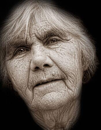 75s: Closeup portrait of nice senior lady