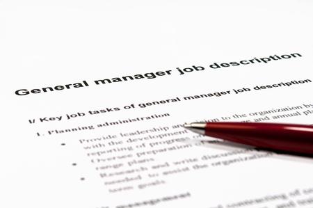 ゼネラル マネージャーの仕事の説明の画像を閉じる