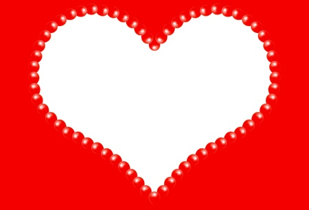 Valentine\'s Day Heart Frame Design With Room For Text Stock Photo ...