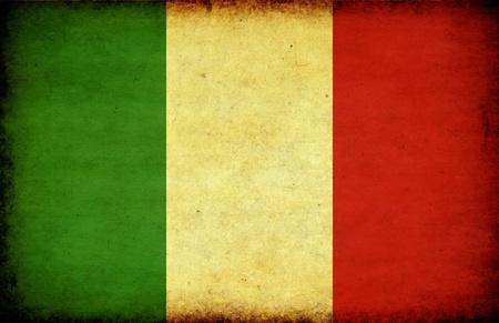 vintage look: Bandiera di look per Italy.Textured grunge o vintage
