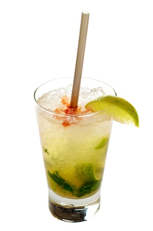 Mojito cocktail drink isolated on white background Stock Photo - 12347427