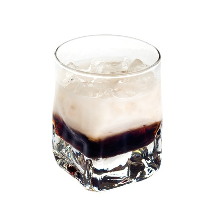 White russian cocktail isolated on white background photo