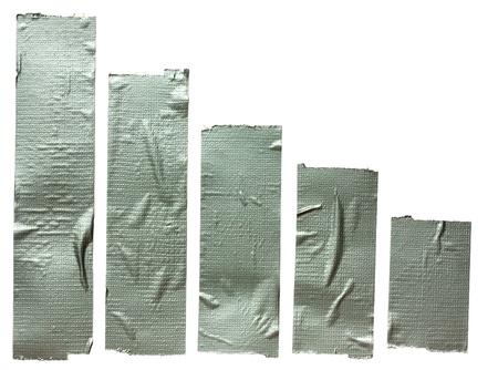 cintas: Colecci�n de diferentes tiras de cinta adhesiva. Cinta adhesiva aisladas sobre fondo blanco Foto de archivo