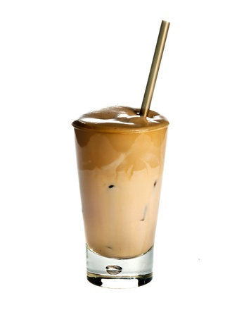 frappe: White Frappe Coffee isolated on white background