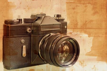 vintage look: Textured Old fotocamera Grunge un'immagine o un look vintage Archivio Fotografico