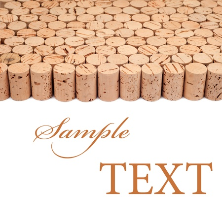 Background pattern of wine bottles corks with room for text photo
