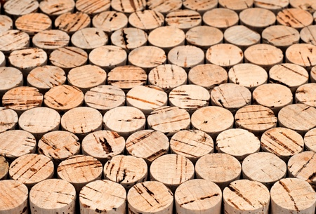 Background pattern of wine bottles corks Shallow DOF photo