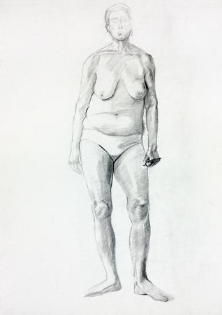 Dibujos A Lápiz De Mujer Desnuda Fotos Retratos Imágenes Y