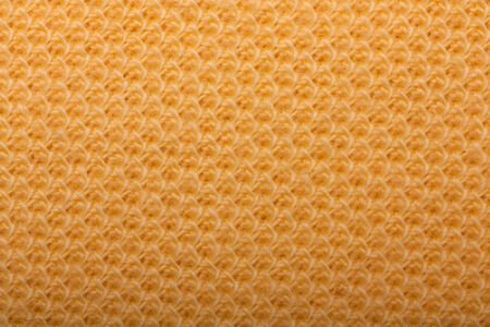 burlap background: Macro detail of yellow textile texture or background Stock Photo