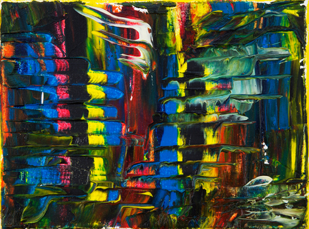 Original abstract oil painting on canvas.Multi colored wallpaper. Modern art concept. Contemporary project Stock fotó - 122215537