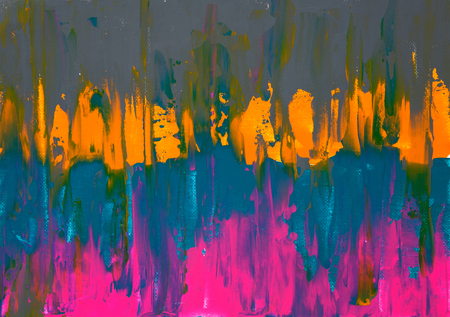 Original abstract oil painting on canvas.Multi colored wallpaper. Modern art concept. Contemporary project