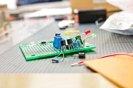 microelectronics: electronic circuit board  Stock Photo