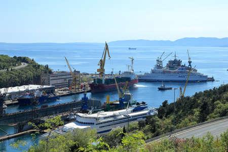 shipbuilding: Shipyard in Rijeka, Croatia