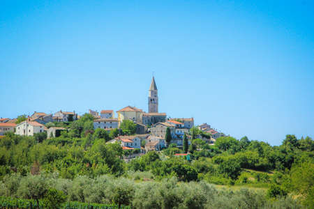 mediterranian: City of Visnjan, Istra. Croatia Stock Photo