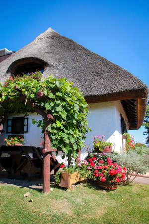 Old traditional village house in Podravina, Koprivnica. Croatia. Restoran Podravska Klet