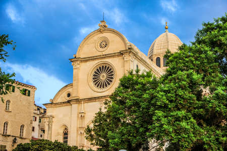Sibenik Cathedral of Saint James (sveti Jakov) in Croatia, Europe. UNESCO world heritage site