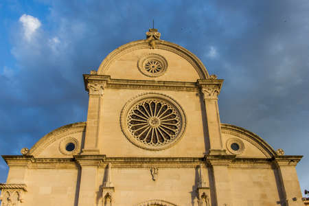 Detail of Sibenik Cathedral of Saint James (sveti Jakov) in Croatia, Europe.