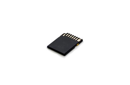 sd: black sd card isolate Stock Photo