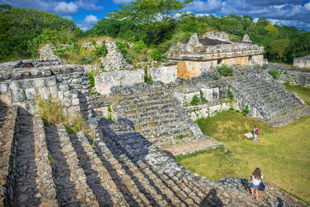 tourism in belize: Ek Balam Mayan Archeological Site. Maya Ruins, Yucatan Peninsula, Mexico