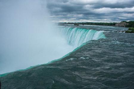 the edge of horseshoe falls: Niagara