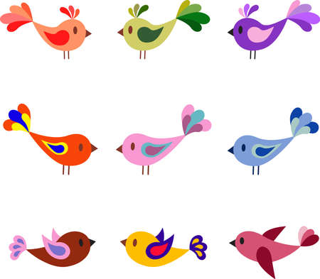 Mulricolored Birds