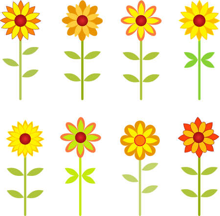 Sunflowers, Flower Vectors, Fall Sunflowers Vector