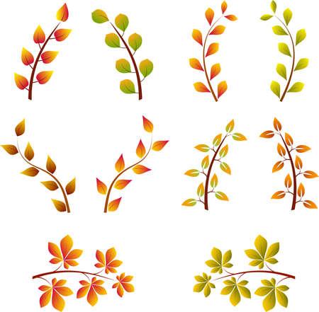 arbre automne: Branches d'arbre d'automne Illustration