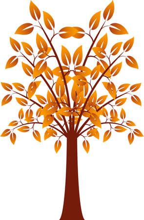 オレンジ リーフ ツリー