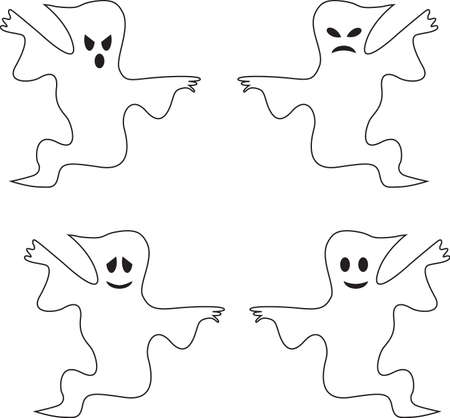 Isolated Black and White Ghost Vectors