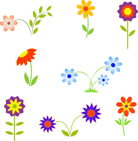 Flower, Isolated Flower Vectors Illustration
