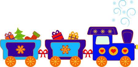 Christmas Present Polar Express Train Vector 向量圖像