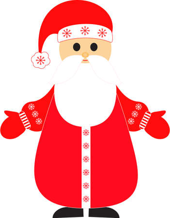 saint nicholas: Isolated Santa Claus Vector, Christmas Vector Illustration