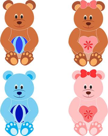 Brear Vectoren, Teddyberen Illustraties