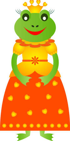 princess frog: Frog Vector Princess Frog Frog Cartoon