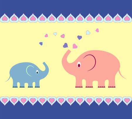 Elephant Vectors Elephant Card 向量圖像