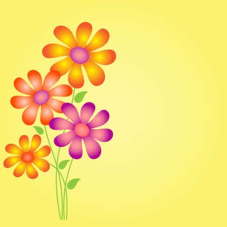 Flower Flower Card 向量圖像